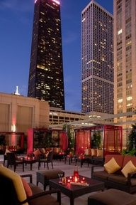 THE TERRACE Chicago, Illinois Hotel: The Peninsula, Chicago What you'll see: skyscrapers in downtown Chicago's Near North Side neighborhood, including the John Hancock Building and the Chicago Water Tower (both to the north)