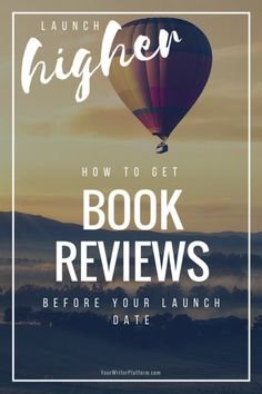 You can get book reviews even before your book launches. Doing so can help you launch your book higher, faster – snowballing your exposure and your sales.