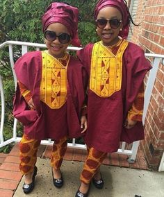 FashionTrend : The Female Swagg Rocking Agbada - FearGist Baby African Clothes, African Dresses For Kids, African Clothing For Men, African Shirts, Nigerian Men Fashion, African Print Fashion, African Fashion Dresses, African Attire, African Wear