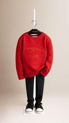 Equestrian Knight Detail Cotton Sweatshirt