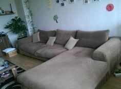Big Sofa Couch große XXL Wohnlandschaft Ecksofa Mocca Braun