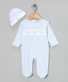 Little explorers will love going on adventures big and small in this delightfully adorned, all-cotton pair. For strolls to the store or just snuggling at home, it's the perfect way to keep little ones cozy and soothed.100% cottonMachine wash; tumble dryImported