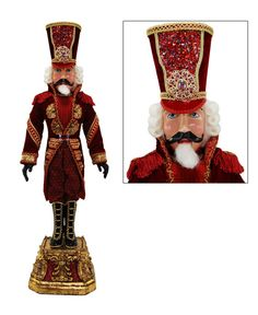 """Katherine's Collection Imperial Guardsman Christmas Collection Approx 32"""" Captain Crimson Nutcracker Doll Free Ship"""