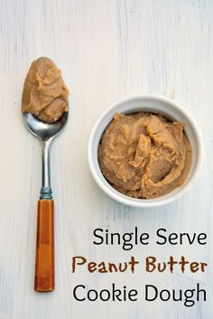 Indulge in small bowl of heaven: eggless single serve peanut butter cookie dough. You know you want some.   #peanutbuttercookiedough   www.savoryexperiments.com