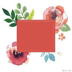 براويز واطارات للفوتوشوب براويز للتصميم رائعة 2019 Floral Watercolor Painting Art