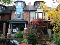 Semi-detached houses in the Annex, Toronto