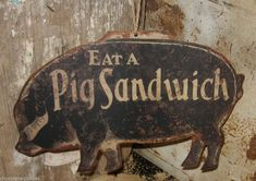 black farmhouse sign