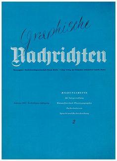 Cover Graphische Nachrichten, 16. Jahrgang, Heft 2, Februar 1937