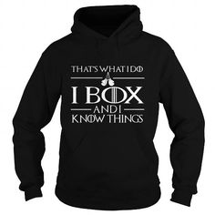 I box and I know things  LIMITED TIME ONLY. ORDER NOW if you like, Item Not Sold Anywhere Else. Amazing for you or gift for your family members and your friends. Thank you! #boxing #shirts