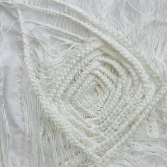 White Textures - textile surface design using braiding, knotting & layering of thread - textile manipulation; dimensional pattern creation // Jo Deeley