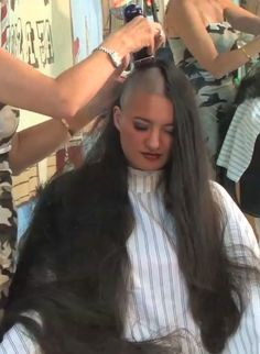 """unlimitedhairfetish: """" A greatly needed head shave. Her hair is extremely pretty, so all the more reason to remove it. """""""