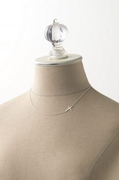 Sterling Silver Cross Chain Necklace | Interlock Cross Necklace | Stella & Dot