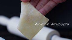 Learn how to make to make paper thin wonton wrappers at home with basic ingredients. Times better than store-bought version. Dumpling Wrappers, Wonton Wrappers, Cooking Bread, Cooking Recipes, Pate Won Ton, How To Make Wontons, Siomai, Spring Roll Wrappers, Oriental Food