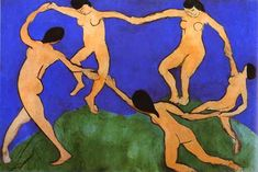 Unity created through perceived movement with the dancers encircled arms - Henri Matisse- Fauvism Movement
