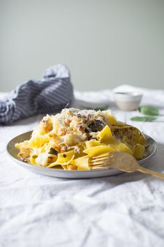 Sage Roasted Cauliflower and Chickpea Pasta | Flourishing Foodie