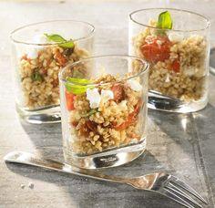 Bulgur met feta en geroosterde kerstomaat - Colruyt Culinair !