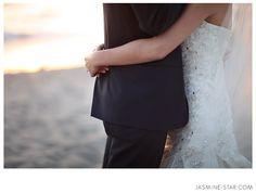 Bride and Groom Close-up - Beach Wedding Ceremony at The Sunset Restaurant - Malibu, California - Photography: www.Jasmine-Star.com