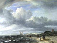 Ruysdael, Jacob van (Dutch, 1628-1682) - The Shore at Egmond-aan-Zee - 1675 | Flickr - Photo Sharing!