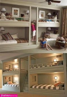 Nice idea for a large living room and put curtains over it to hide it. Transform it into a guest room :)
