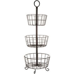 Black Three-Tier Basket Stand - perfect for changing table storage!