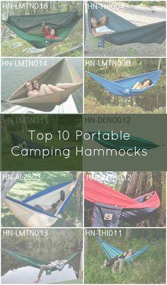 Top 10 Portable Camping Hammocks.