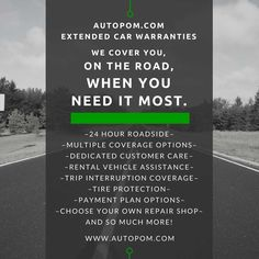 #Car Extended Warranty Coverage when it matters most. Autopom.com