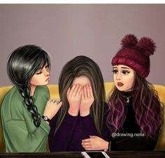 Me and my bff arias and abegail Best Friends Cartoon, Friend Cartoon, Cute Friends, Girly M, Best Friend Drawings, Girly Drawings, Best Friend Sketches, Bff Pics, Cartoon Girl Images