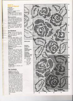 Филейное вязание узоры - Вязание - фото из журналов