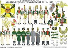 プレート162:帝国ロシア:ガードPavlovsky 1813年から1815年