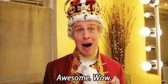 Jonathan Groff - King George III in the Original Broadway Cast of Hamilton Hamilton Broadway, Hamilton Musical, Theatre Nerds, Musical Theatre, Theater, Hamilton Lin Manuel Miranda, Awesome Wow, The Rocky Horror Picture Show, Alexander Hamilton