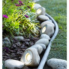 Natural and unobtrusive, this LED landscape light kit adds a great touch to your garden and is made to look and feel like real garden rocks LED landscape lighting kit; each rock light is 4 high x wide… Continue Reading → Landscaping With Rocks, Landscaping Tips, Garden Landscaping, Small Front Yard Landscaping, Mailbox Landscaping, Decorative Rock Landscaping, Landscaping Contractors, Privacy Landscaping, Back Yard Landscape Ideas