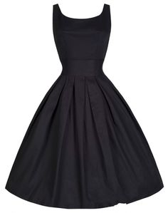 Black vintage dress - love the simple black but this would also make a great shape for a pattern - show this to a tailor