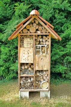 Bee and useful garden insect housing and nesting house box made of wood and natural components to attract beneficial organic cultivation bugs. Description from dreamstime.com. I searched for this on bing.com/images