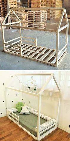 Top 25 Innovative Pallet Furniture Ideas Pallet kid bed The post Top 25 Innovative Pallet Furniture Ideas appeared first on Pallet Ideas.