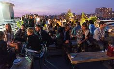 Le Perchoir 14 Rue Crespin du Gast, 11th arr.; Métro: Ménilmontant or Rue St. Maur Half the fun of the chic new rooftop bar and restaurant ...