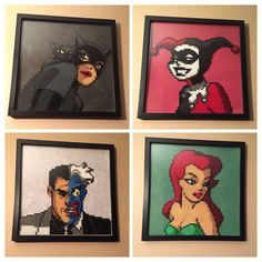 Batman the animated series - Portrait set hama perler beads by Amber--Lynn