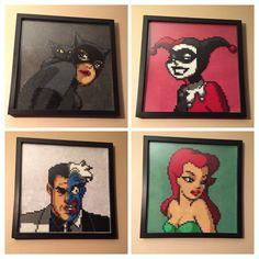 Batman the animated series - Portrait set hama perler beads by Amber--Lynn