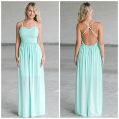 This mint maxi dress looks perfect dressed up or down!  http://ss1.us/a/bus7Evzq