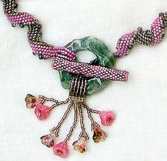 Gwen's Workroom   O Deer - necklace by Gwen, indespiral design by AFBaker