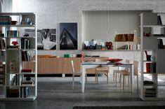 Designer-Esstisch glasplatte basis weiß horm esszimmer