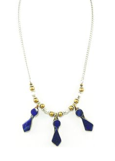 Afghan Urban Gypsy Teardrop Lapis Necklace by IsabellaRaeJewelry