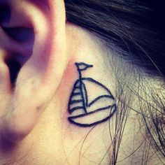 "Tiny boat refuse to sink never give up  Simple Sailboat Tattoo Sailboat tattoo: ""a sailboat"