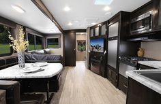 by Grand Design. Bus Conversion, Grand Designs, Caravan, Trailers, Floor Plans, Travel, Home Decor, Homemade Home Decor, Truck Camper