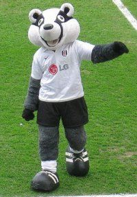 Fulham: Billy The Badger at football mascots. Check out all the mascots from the Scottish, Irish, Welsh and English football Leagues. British Football, English Football League, Fulham Fc, Sports Advertising, Badger, Soccer, Teddy Bear, England, Fictional Characters
