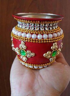 Arti Thali Decoration, Kalash Decoration, Diwali Decorations, Festival Decorations, Diwali Craft, Diwali Diya, Bottle Art, Bottle Crafts, Wedding Mandap