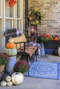 Welcome Fall Time To Decorate Unskinny Boppy Home Design And Fall Home Decor, Autumn Home, Diy Home Decor, Holiday Decor, Autumn 2017, Autumn Decorating, Porch Decorating, Decorating Ideas, Decor Ideas