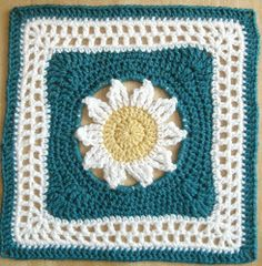 Blooming Lace Square Another square I would prefer to use randomly or make a row or two, in a crocheted throw with some nice basic stitches