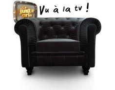 Fauteuil Chesterfield velours noir Luxe. Profitez de notre prix exceptionnel de 289€ sur lekingstore.com. Contactez nous vite au 01.43.75.15.90.