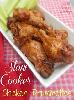 Slow Cooker Chicken Drummettes. This recipe is awesome for game day or any party. www.lorisculinarycreations.com