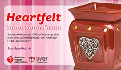 Visit my site to order this beautiful warmer. Scentsy will donate 100% of the net profits to the American Heart Association for every Heartfelt warmer sold! erinfraser.scents...